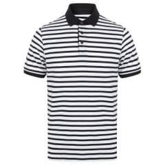 Front Row Herren Streifen Jersey Polo Shirt