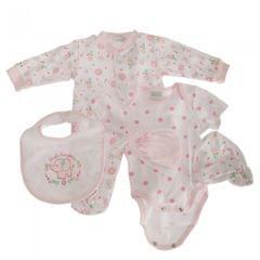 Nursery Time Baby Mädchen Floral Geschenkset 5-teilig