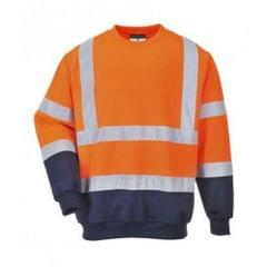 Portwest Herren Hi-Vis 2 Ton Sweatshirt