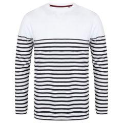 Front Row Herren T-Shirt, gestreift, langärmlig