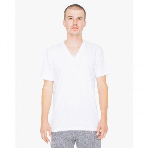 American Apparel Herren Jersey-T-Shirt mit V-Ausschnitt