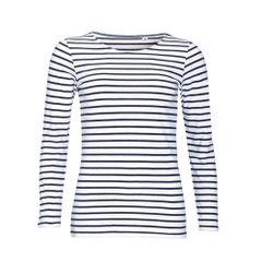 SOLS Marine - T-shirt rayé à manches longues - Femme
