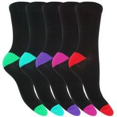 FLOSO - Chaussettes avec talon et orteils en contraste (5 paires) - Femme