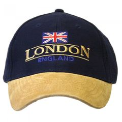 Casquette de baseball en coton, au style 'London England', avec sangle réglable