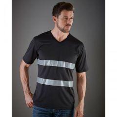 Yoko - T-shirt haute visibilité à col V - Homme