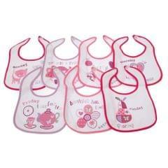 Bavoirs imprimés 7 jours de la semaine pour bébé (lot de 7) - Bébé