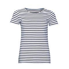 SOLS Miles - T-shirt rayé à manches courtes - Femme