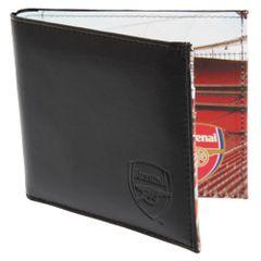 Arsenal FC - Portefeuille en cuir à imprimé stade