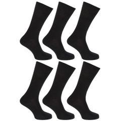 FLOSO - Chaussettes unies 100% coton (Lot de 6 paires) - Femme