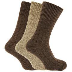 Chaussettes non-élastiquées en mélange de laine (lot de 3) - Homme