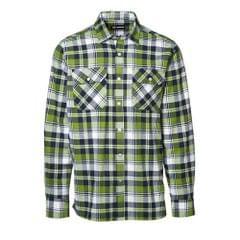 ID - Chemise à carreaux à manches longues 100% coton (coupe régulière) - Homme