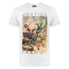 Justice League Herren Charakters Action T-Shirt