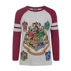 Harry Potter offizielles Mädchen Hogwarts Raglan T-Shirt