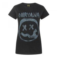 Nirvana Damen Smiley Logo T-Shirt