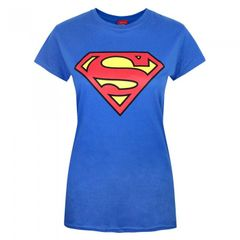 Superman Damen SchildLogo T-Shirt