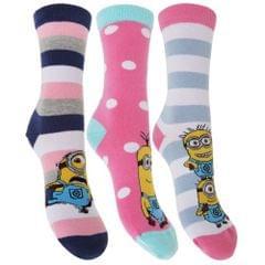 Damen Socken mit Despicable Me Minions Motiv (3-er Pack)