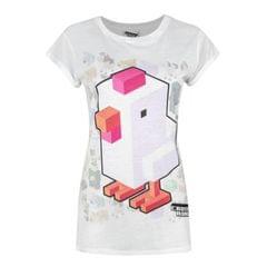 Crossy Road Damen T-Shirt mit Hühnchen-Sublimationsdruck