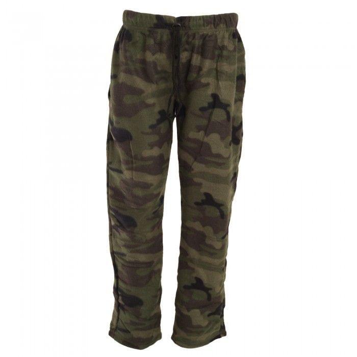 Brave Soul Herren Polar-Fleece-Pyjamahose, grünes Tarnmuster