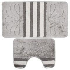 Ensemble de tapis de bain et contour de lavabo