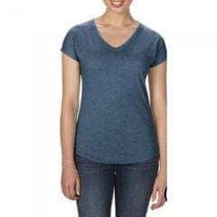 Anvil Damen T-Shirt Tri-Blend mit V-Ausschnitt
