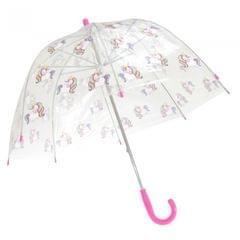 X-Brella Kinder Regenschirm mit Einhorn-Design, Transparent