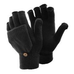 FLOSO Ladies/Womens Winter Capped Fingerless Magic Gloves