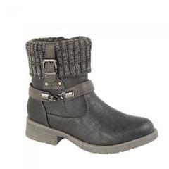 Cipriata Damen Ankle-Boots mit Strick-Kragen