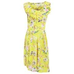 Womens/Ladies Bird Flower Garden Print Sleeveless Summer Dress