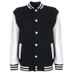 FDM Junior/Childrens Big Boys Varsity Jacket (Contrast Sleeves)