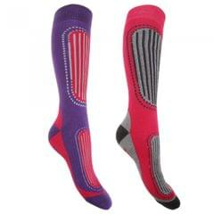 FLOSO Womens/Ladies Ski Socks (Pack Of 2)
