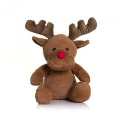 Mumbles Red Nose Reindeer Plush Teddy Bear Toy