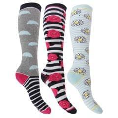 Womens/Ladies Hyperwarm Long Thermal Welly Socks (3 Pairs)
