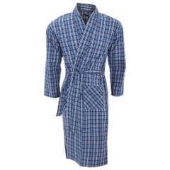 Mens Lightweight Patterned Kimono Robe