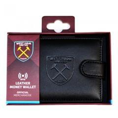 West Ham United FC Mens Official RFID Embossed Leather Wallet