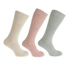 Womens/Ladies Thermal Wool Blend Walking Boot Socks (3 Pairs)
