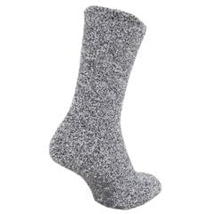 FLOSO Mens Warm Slipper Socks with Rubber Non Slip Grip