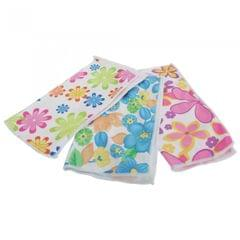 Floral Pattern Microfiber Cleaning Cloths (Pack Of 3)