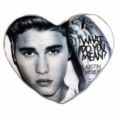 Justin Bieber Official Heart Shaped Pillow