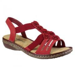Amblers Womens/Ladies Elasticated Open Toe Floral Sandals