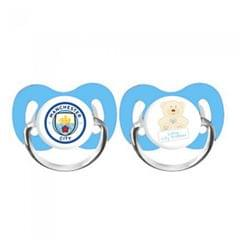 Manchester City FC Childrens/Kids Soothers Pack Of 2