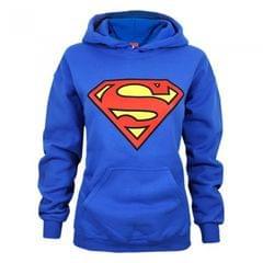 Superman Womens/Ladies Shield Logo Hoodie