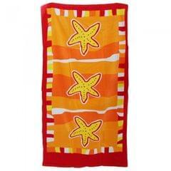 Starfish Design Velour Beach Towel