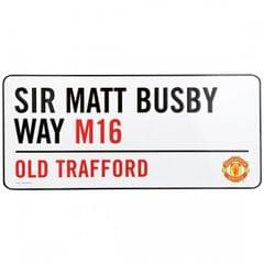 Manchester United FC Official Metal Stadium Street Sign
