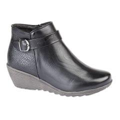 Cipriata Womens/Ladies Rosa Reptile Print Inside Zip Wedge Ankle Boots