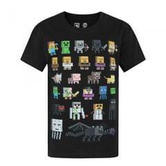 Minecraft - T-shirt officiel personnages - Garçon