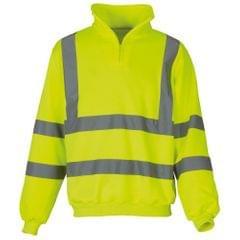 Yoko Mens Hi Vis 1/4 Zip Sweatshirt