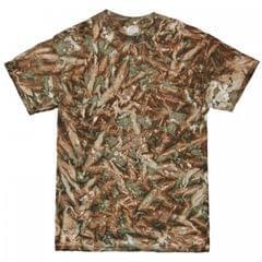 Colortone Mens Short Sleeve Tie Dye Camo Pattern T-Shirt