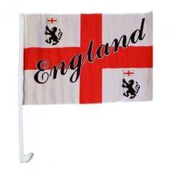 England Single Crest Car Flag
