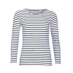SOLS Womens/Ladies Marine Long Sleeve Stripe T-Shirt