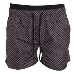 Brave Soul Mens Check Print Swimming Shorts
